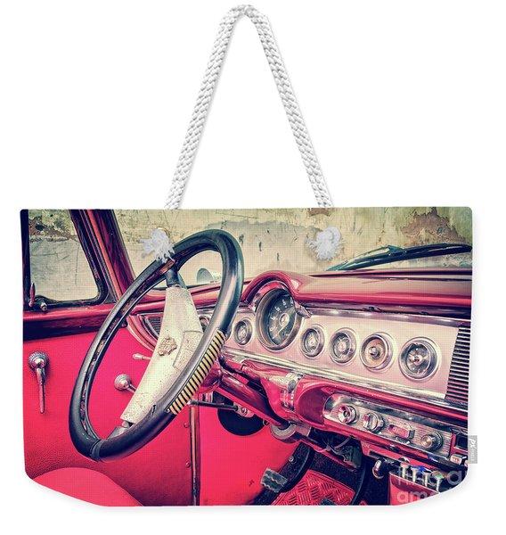 Driving In Havana Weekender Tote Bag
