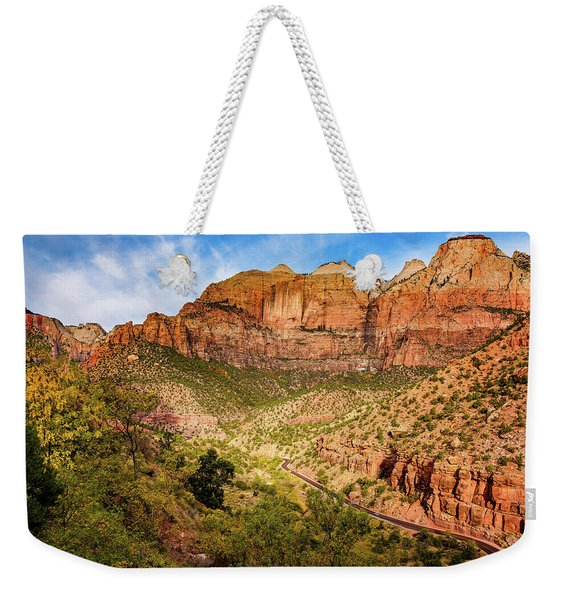 Driving Into Zion Weekender Tote Bag