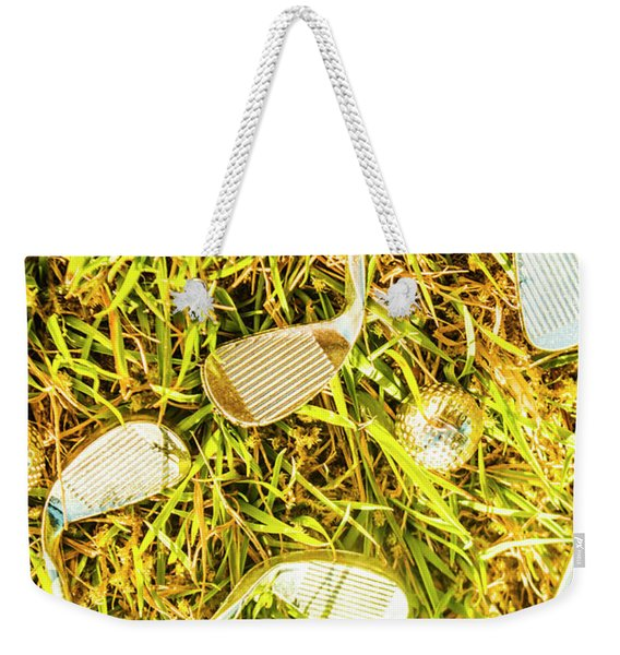 Driving On The Green Weekender Tote Bag