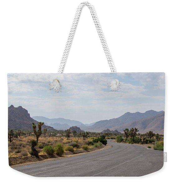 Driving Through Joshua Tree National Park Weekender Tote Bag