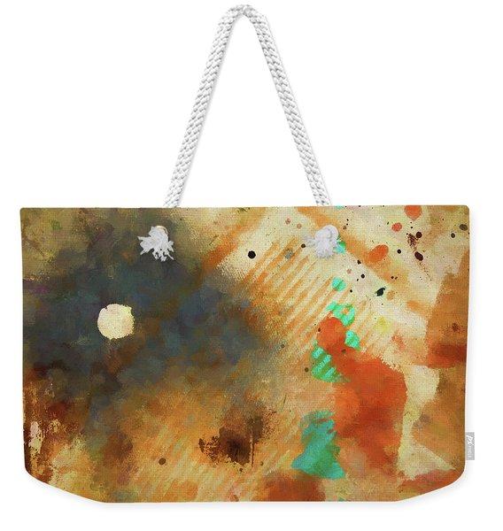 Dropcloth Moon Weekender Tote Bag