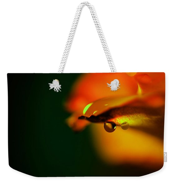 Droplet Off A Rose Petal Weekender Tote Bag