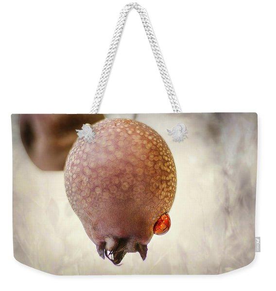 Droplet On A Bud Weekender Tote Bag
