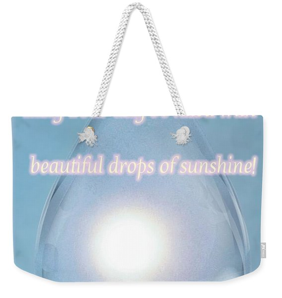 Drops Of Sunshine Weekender Tote Bag