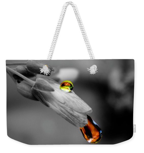 Drops On A Blossom Weekender Tote Bag
