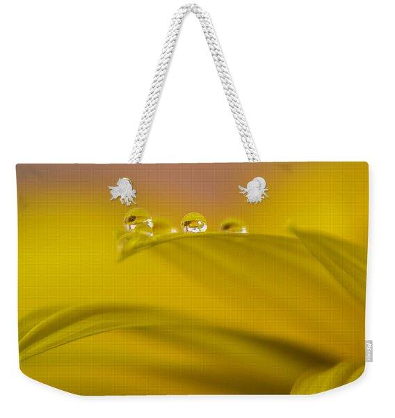 Drops Resting On A Leaf Weekender Tote Bag