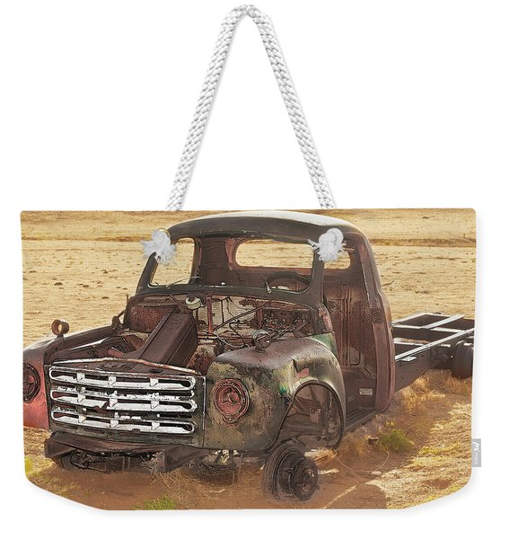 Weekender Tote Bag featuring the photograph Drought And '51 Studebaker by Scott Cordell