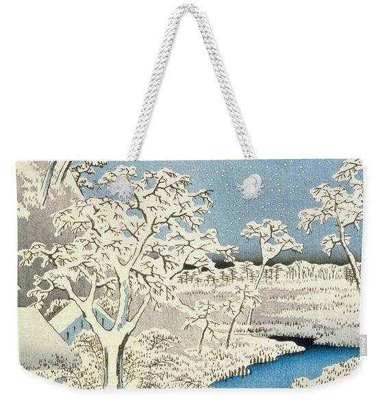 Drum Bridge And Setting Sun Hill At Meguro Weekender Tote Bag