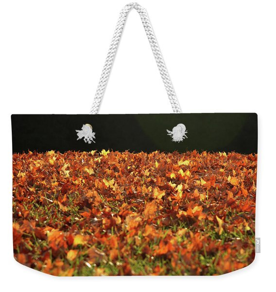 Dry Maple Leaves Covering The Ground Weekender Tote Bag