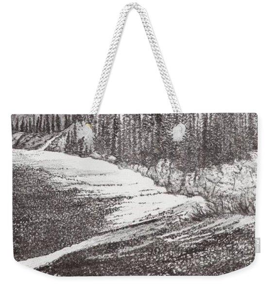 Dry Riverbed Weekender Tote Bag