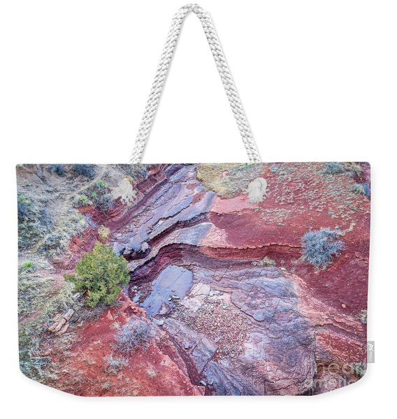 Dry Stream Canyon Areial View Weekender Tote Bag