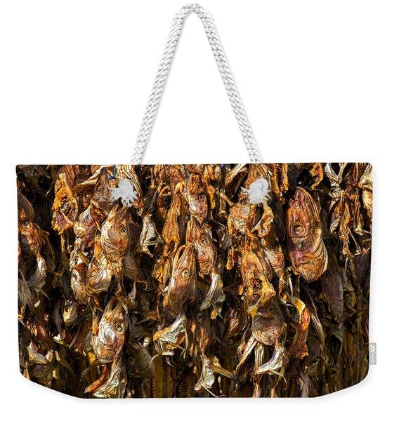 Drying Fish Heads - Iceland Weekender Tote Bag
