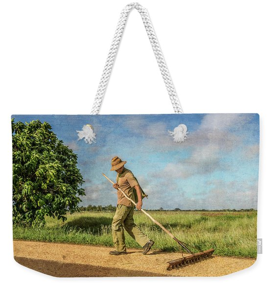 Drying Rice Weekender Tote Bag