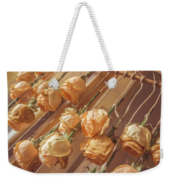 Drying Roses Weekender Tote Bag