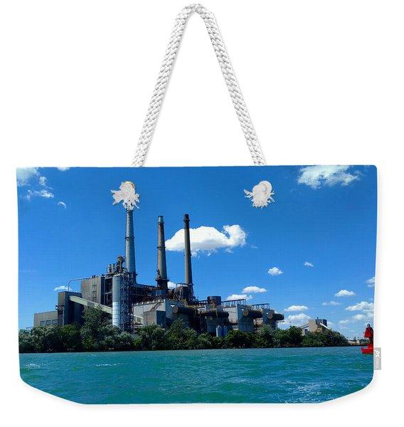 Dte River Rouge Power Plant Weekender Tote Bag