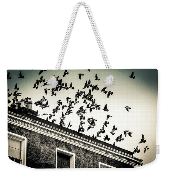 Flight Over Oscar Wilde's Hood, Dublin Weekender Tote Bag