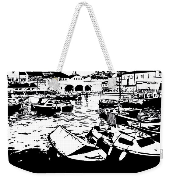 Dubrovnik, Croatia, Fishing Boats Weekender Tote Bag