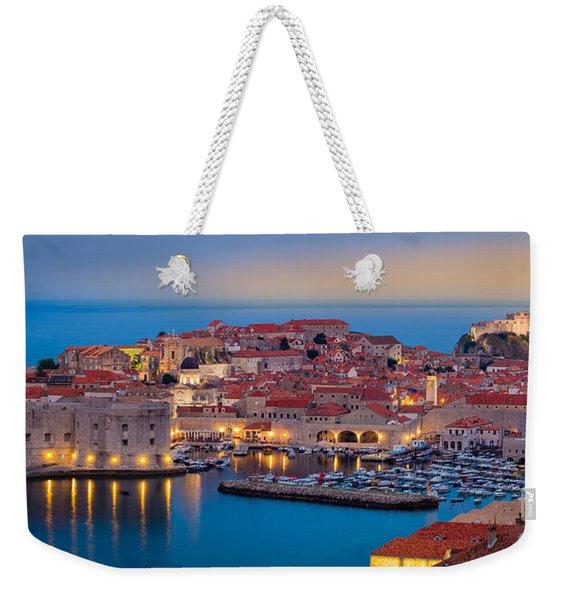 Dubrovnik Twilight Panorama Weekender Tote Bag