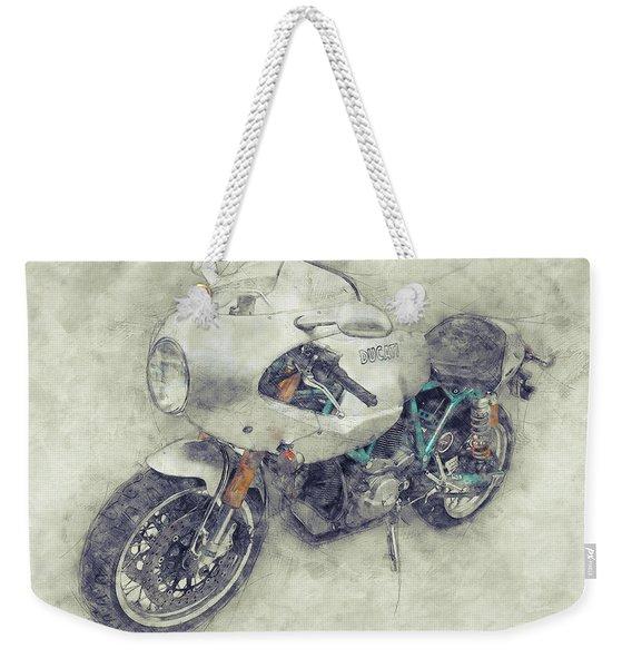 Ducati Paulsmart 1000 Le 1 - 2006 - Motorcycle Poster - Automotive Art Weekender Tote Bag