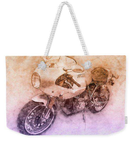 Ducati Paulsmart 1000 Le 2 - 2006 - Motorcycle Poster - Automotive Art Weekender Tote Bag