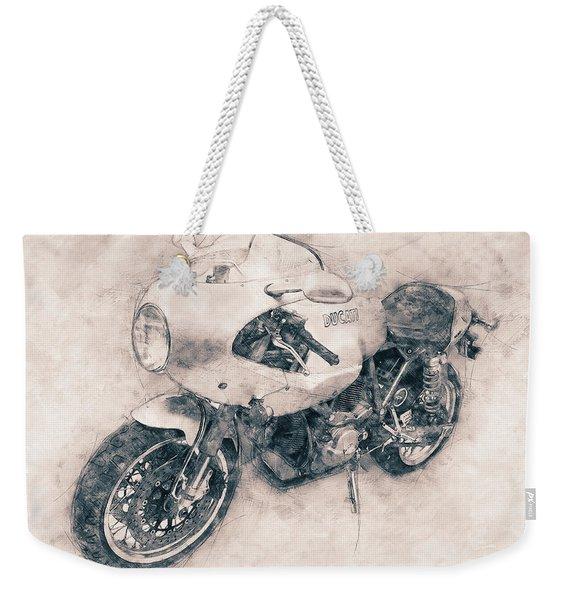 Ducati Paulsmart 1000 Le - 2006 - Motorcycle Poster - Automotive Art Weekender Tote Bag