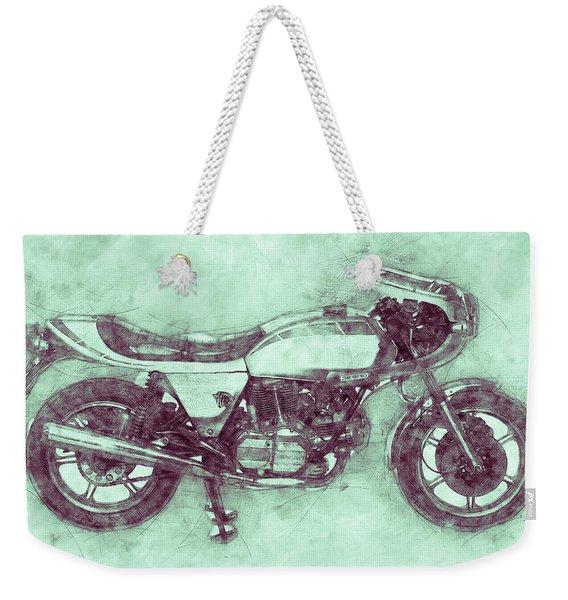 Ducati Supersport 3 - Sports Bike - 1975 - Motorcycle Poster - Automotive Art Weekender Tote Bag