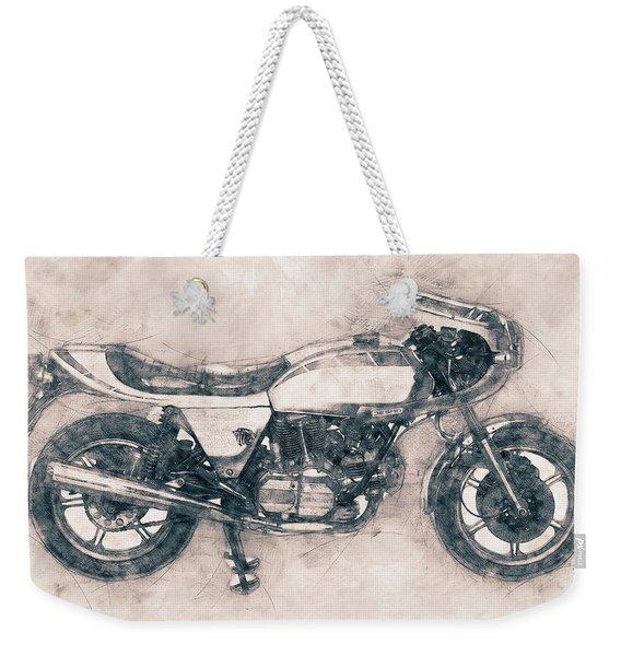 Ducati Supersport - Sports Bike - 1975 - Motorcycle Poster - Automotive Art Weekender Tote Bag