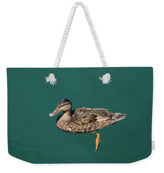 Duck Floats Weekender Tote Bag