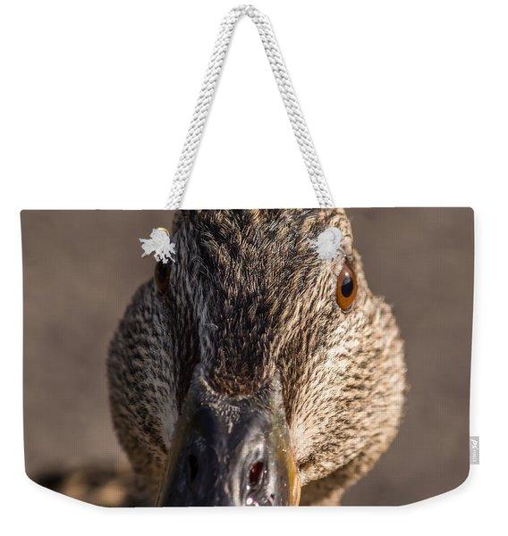 Duck Headshot Weekender Tote Bag
