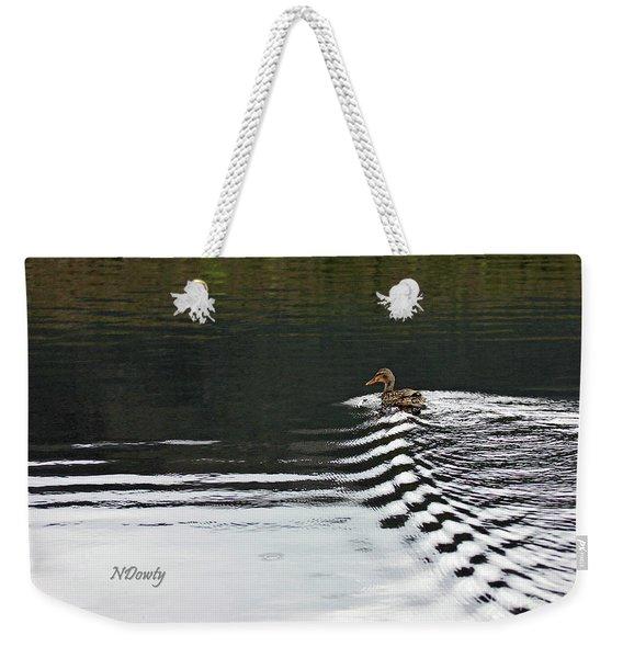 Duck On Ripple Wake Weekender Tote Bag