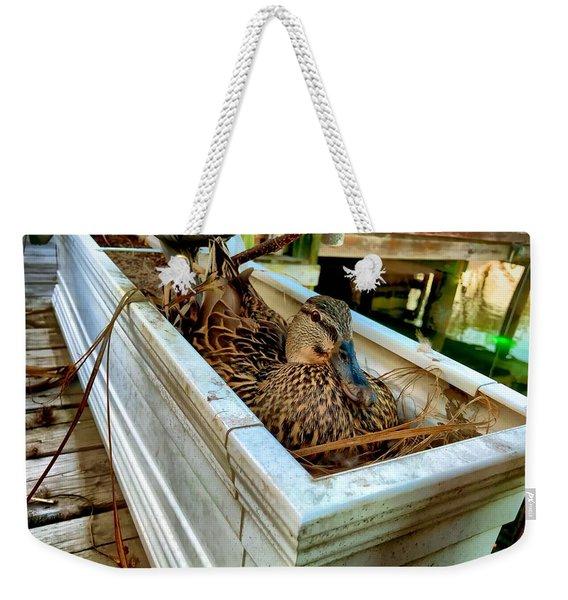 Duck On The Dock Weekender Tote Bag