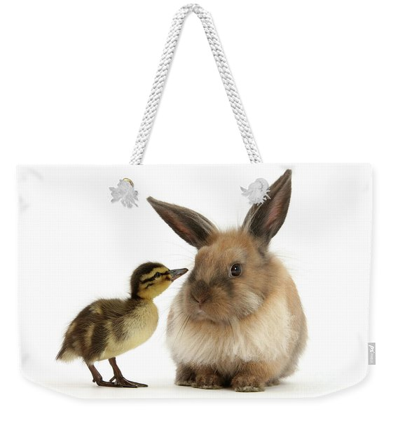 Duck Out Bunny Weekender Tote Bag