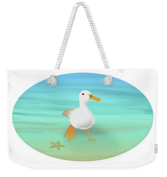 Duck Paddling At The Seaside Weekender Tote Bag