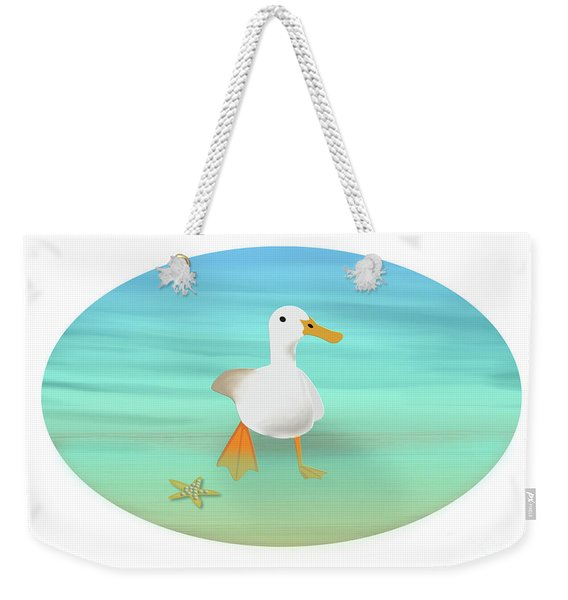 Duck Paddling At The Seaside Weekender Tote Bag