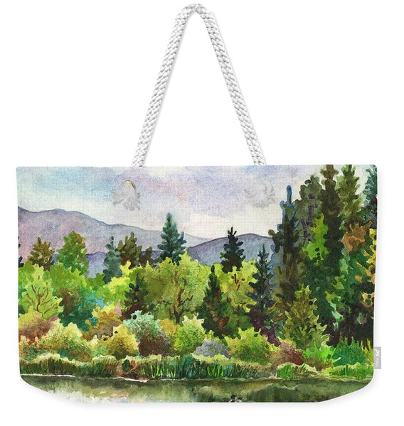 Duck Pond At Caribou Ranch Weekender Tote Bag