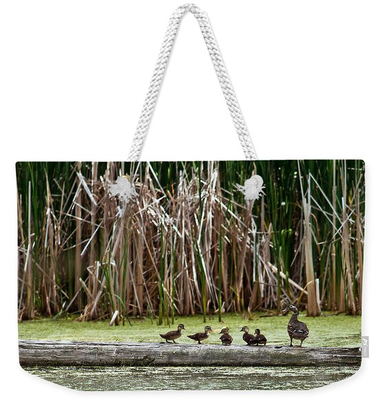 Ducks All In A Row Weekender Tote Bag