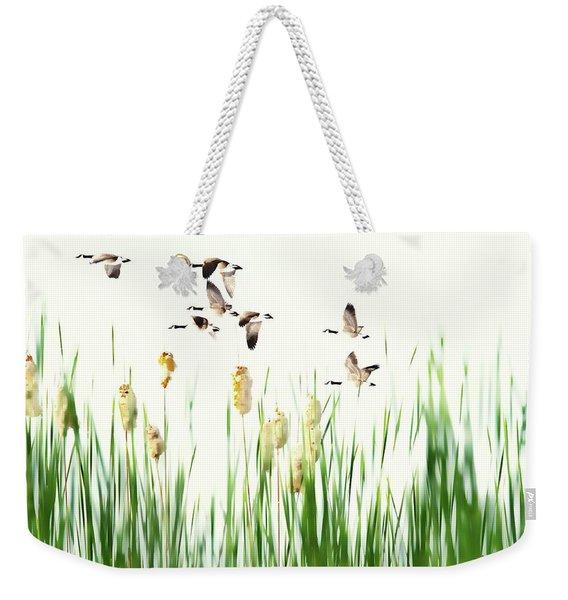 Ducks In Flight - Migration  Weekender Tote Bag