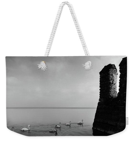 Ducks In Lake Garda, Italy Weekender Tote Bag