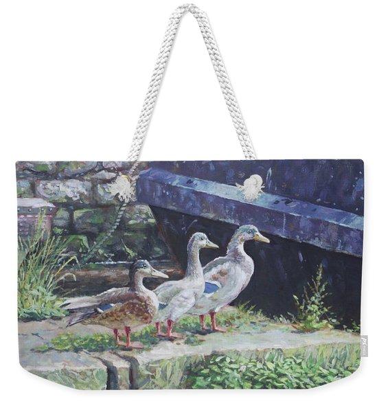 Ducks On Dockside Weekender Tote Bag