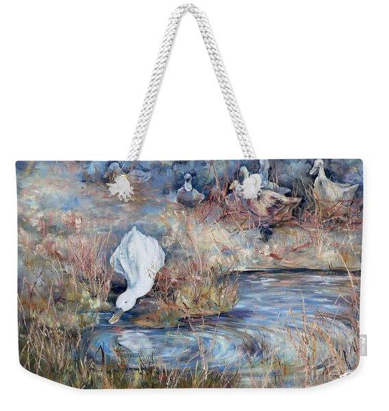 Ducks. Split Opposite Colour Harmony.  Weekender Tote Bag