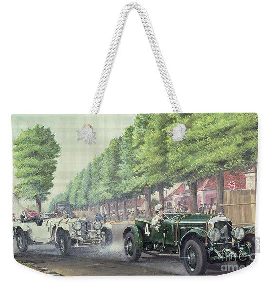 Duel At Pontlieu, Le Mans, 1930  Weekender Tote Bag