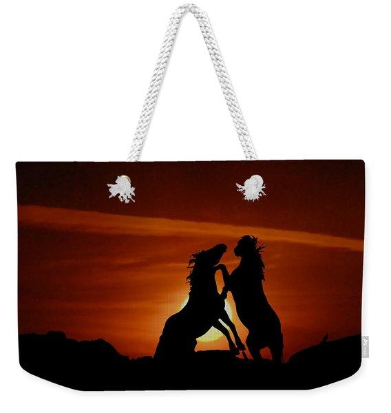 Duel At Sundown Weekender Tote Bag