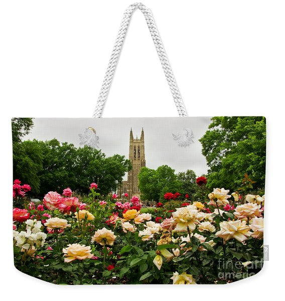 Duke Chapel And Roses Weekender Tote Bag