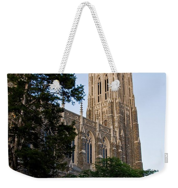Duke Chapel Side View Weekender Tote Bag