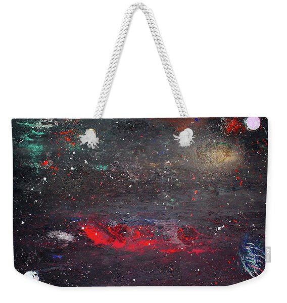 Weekender Tote Bag featuring the painting Dulaity by Michael Lucarelli