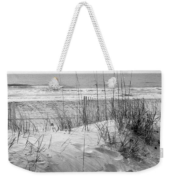 Dune - Black And White Weekender Tote Bag