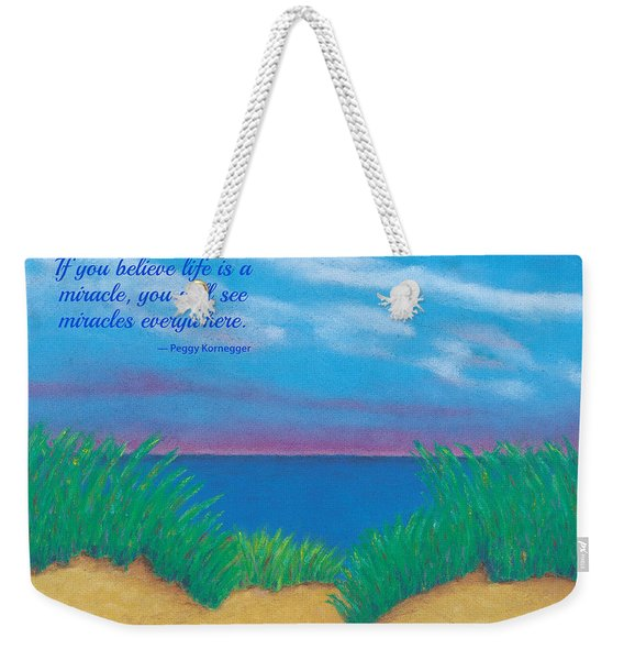 Dunes At Dawn - With Quote Weekender Tote Bag