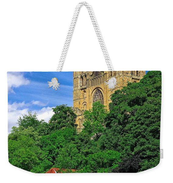 Durham Cathedral And Wool Mill Weekender Tote Bag