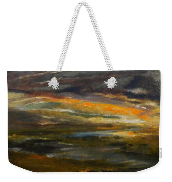 Dusk At The River Weekender Tote Bag