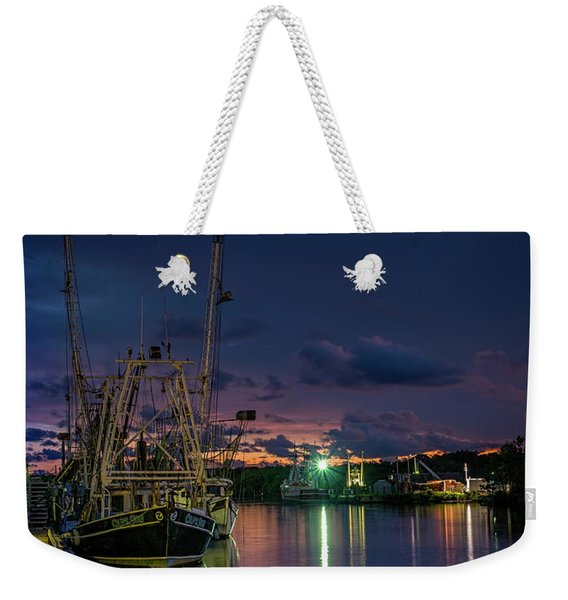 Dusk Colors In The Bayou Weekender Tote Bag